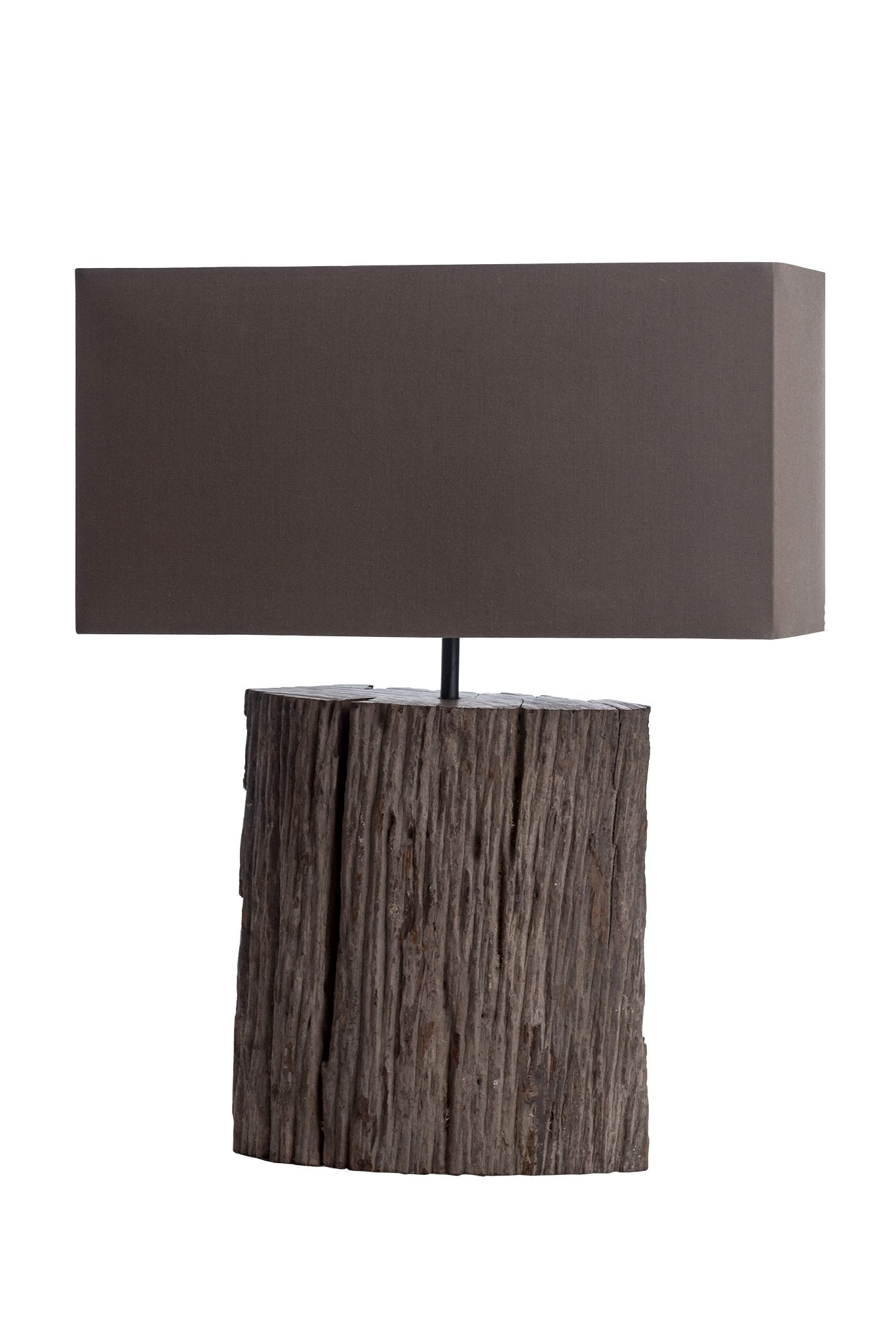 Wax Driftwood Bark Table Lamp - O'THENTIQUE