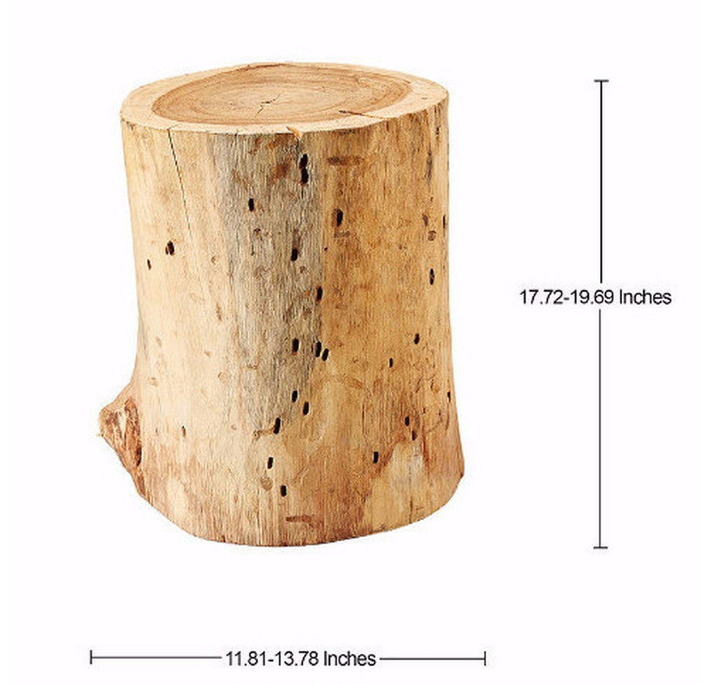 Wooden Stump Table Stool - O'THENTIQUE