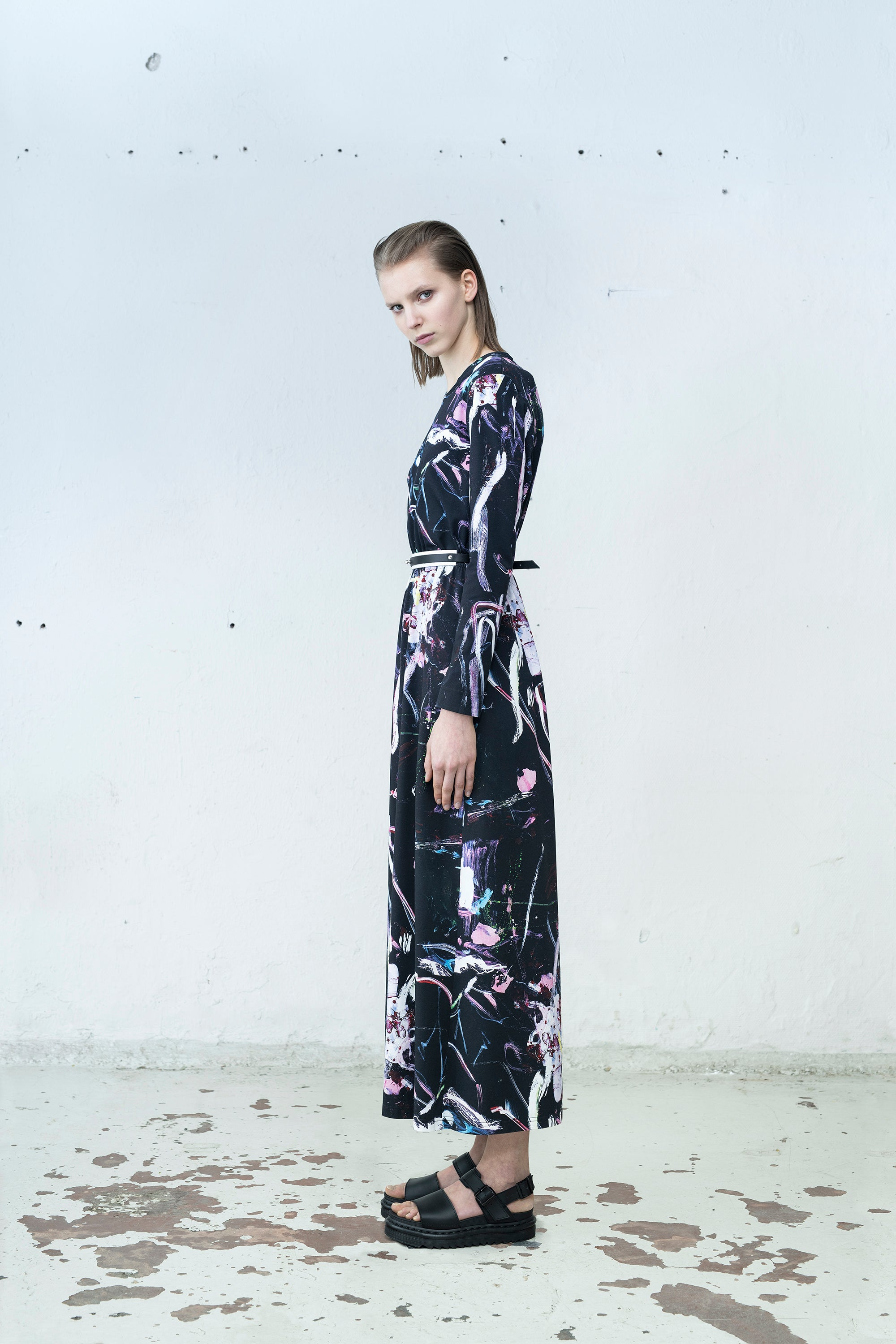 Mirkka Metsola Sustainable Long Dress. Designed in Finlad, made in Estonia.