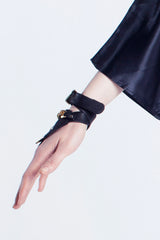 Mirkka Metsola Sustainable Golden Hand Harness Made of Surplus Leather