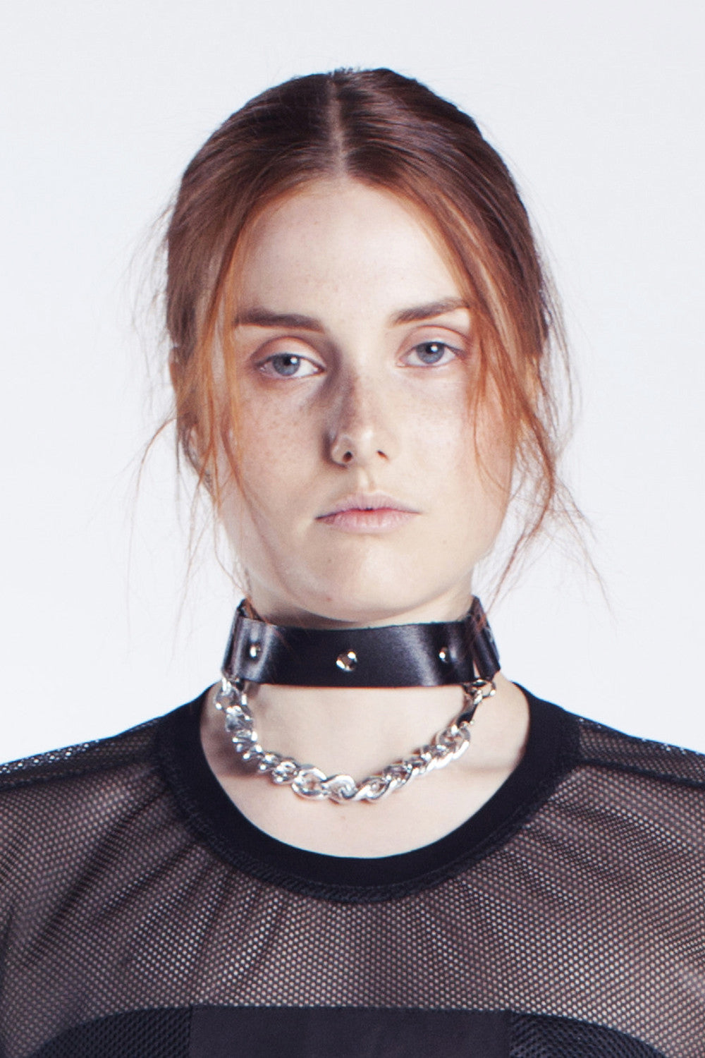 Mirkka Metsola Sustainable Buckled Leather Choker