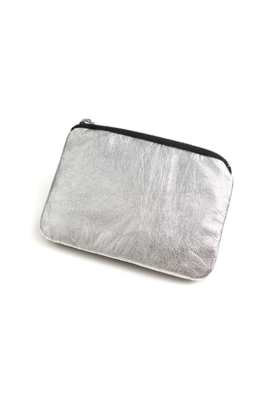 Mirkka Metsola Sustainable Silver Leather Wallet. Designed & Made in Finald.
