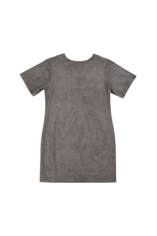 Mirkka Metsola Sustainable Suede Dress. Designed in Finland, made in Estonia.