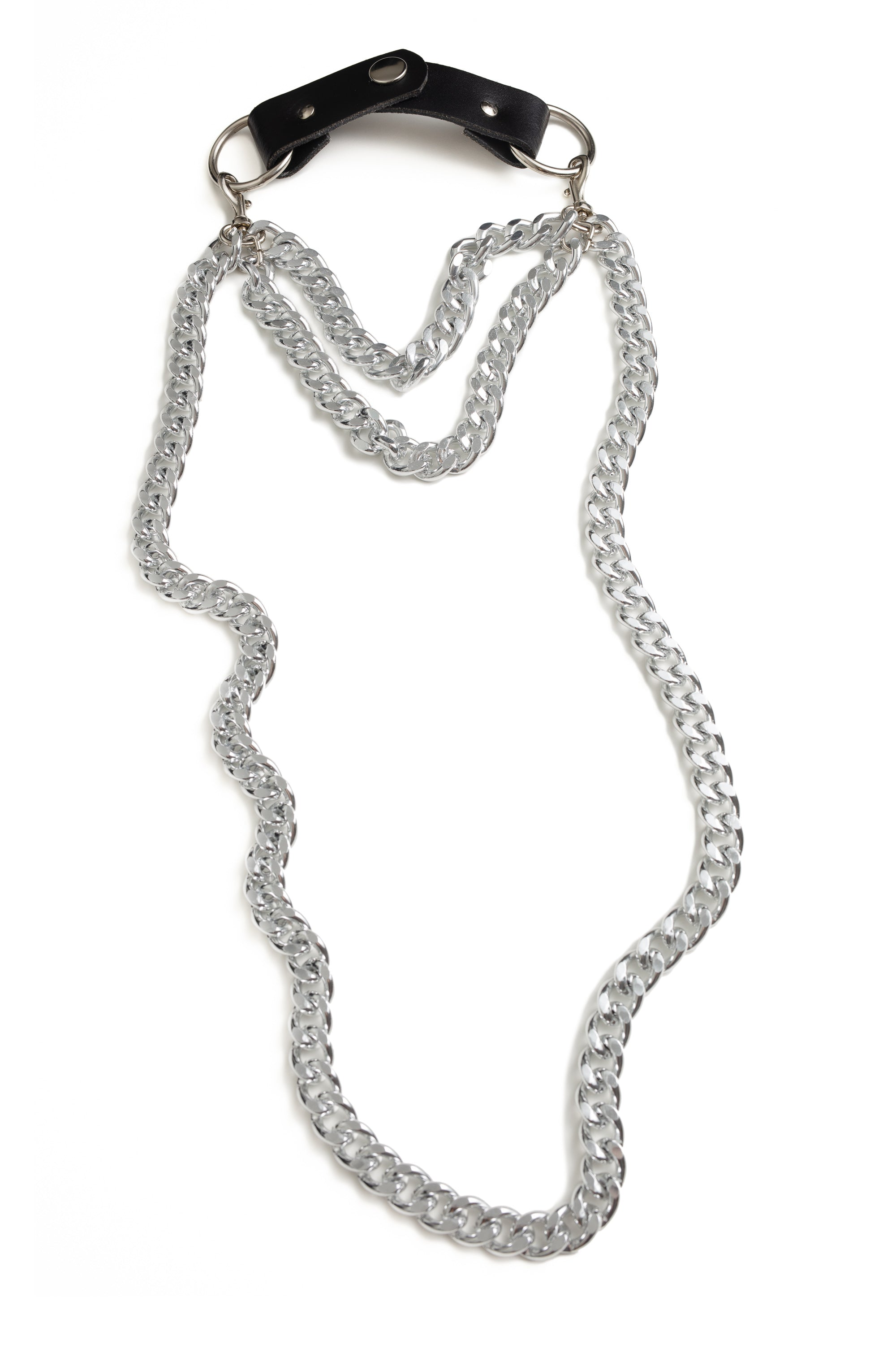 Long Chain Choker (Triple Silver)