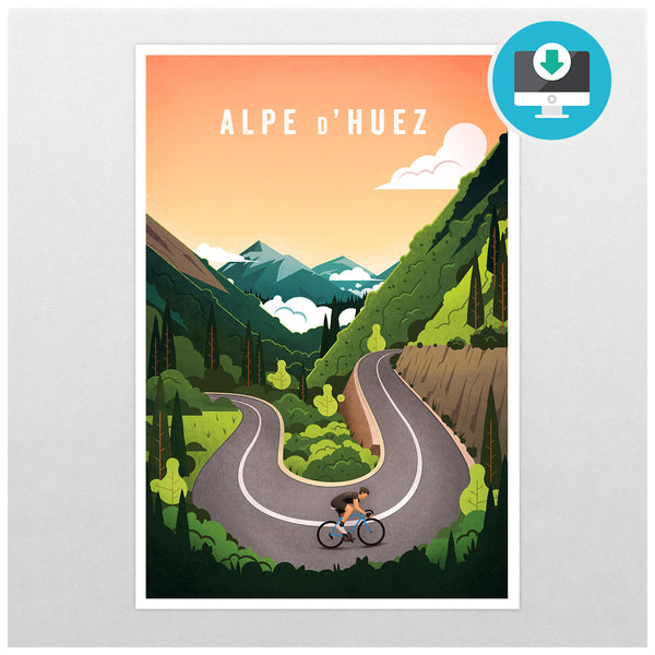 'Alpe d'Huez' - Digital Download