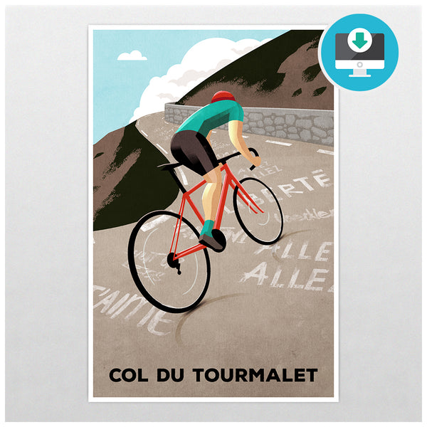 'Col Du Tourmalet' - Digital Download - Super Chez Bro