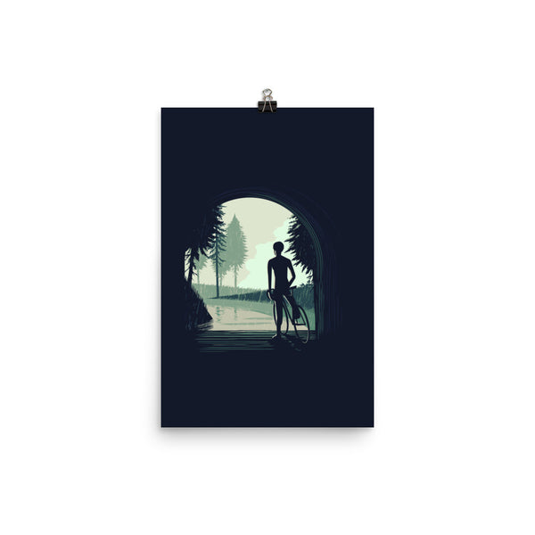 'Waiting For the Rain' Cycling Print
