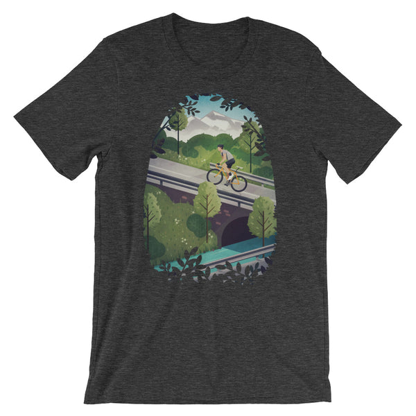 'Into the Hills' Unisex short sleeve t-shirt - Super Chez Bro