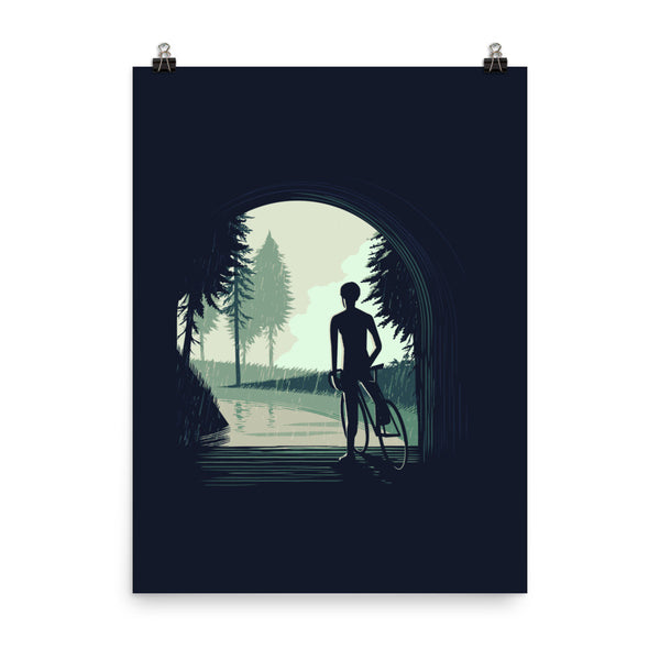 """Waiting For the Rain"" Cycling Poster"