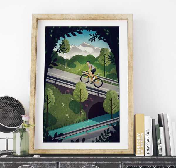 'Into the Hills' Print - Super Chez Bro