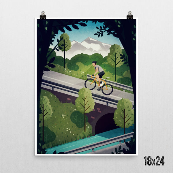 Poster, Print - 'Into The Hills' Print