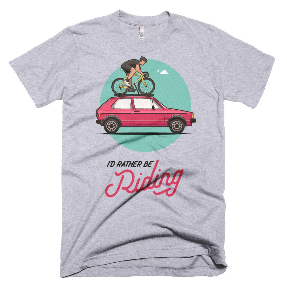 """I'd Rather Be Riding"" Short sleeve men's t-shirt - Super Chez Bro"
