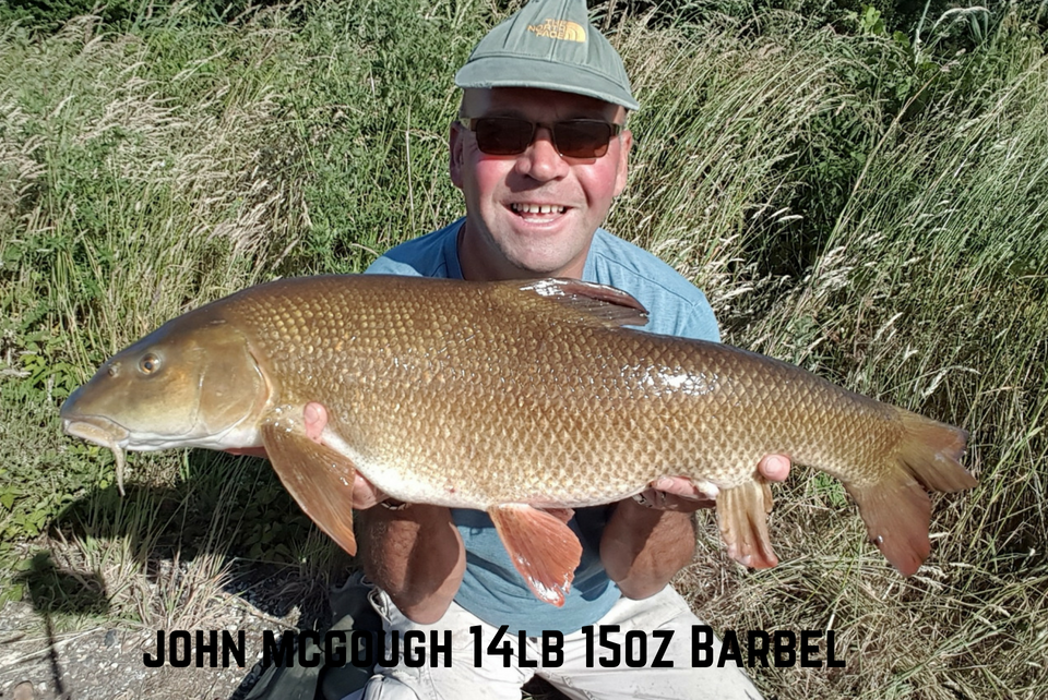 Elips bags a Brace of 14lb Barbel for John McGough