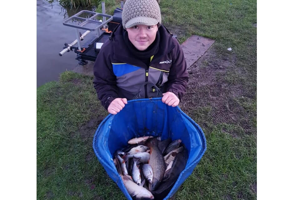 Tom with his catch from Lindholme Lakes