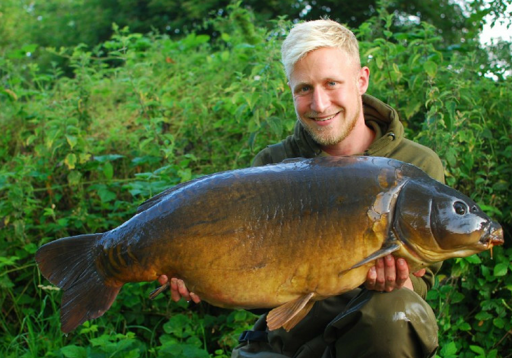 Jake with a Linch Hill Mirror Carp