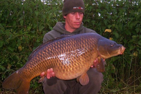 Andy with a Common Carp
