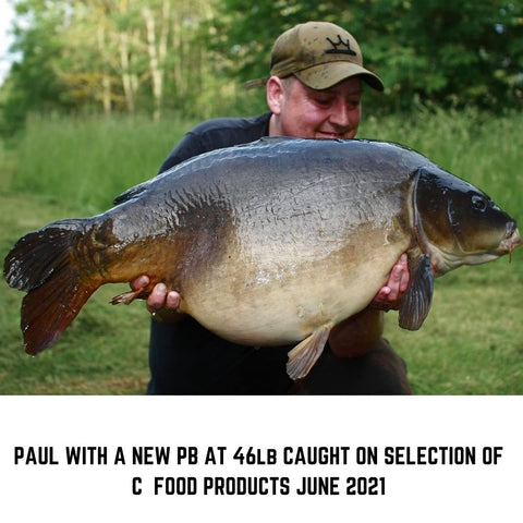 Paul with a new PB at 46lb caught on C Food
