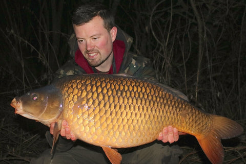 Josh with a Common Carp from Linear