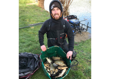 Chris with bag of Carp from Manor Farm