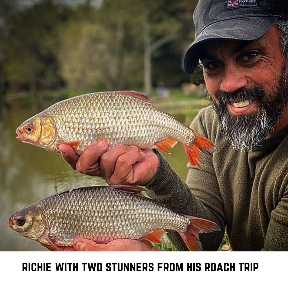 Richie with two stunning roach part of an amazing haul in April 2021