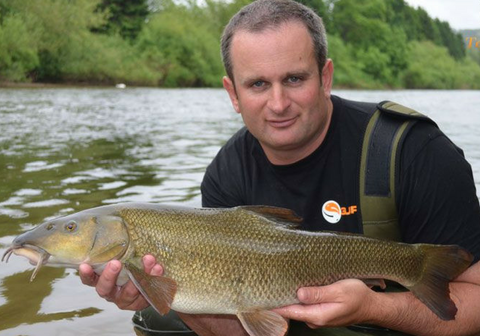 Steve Ringer with a Wye Barbel
