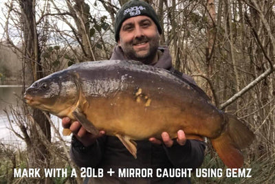 Mark with a Mirror Carp caught using Little Gemz