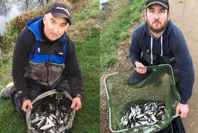 Supercharged Natural Black Groundbait helps Paul and Damian