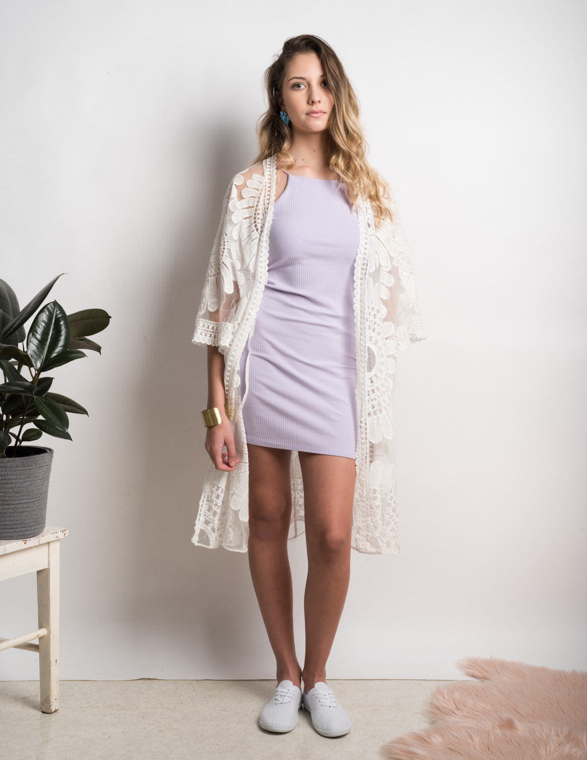 Lace vintage sheer floral kimono – The Clothes Loop