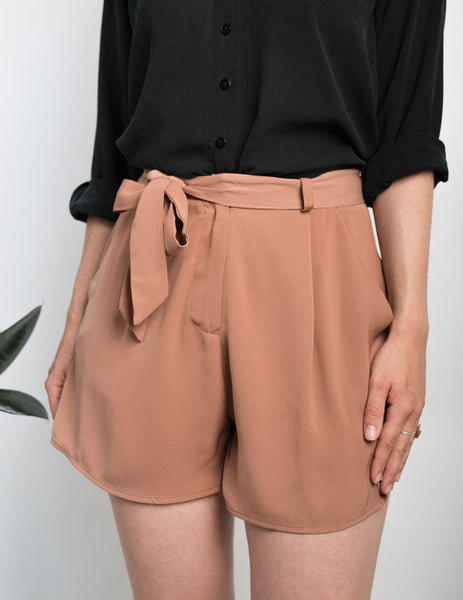 High Waisted Tie-up Shorts