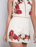 Floral Detailed Playsuit