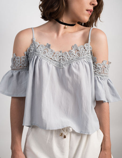 Off The Shoulder Lace Detailed Top