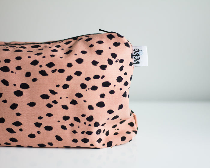 Carry All Purse - Peach Spots