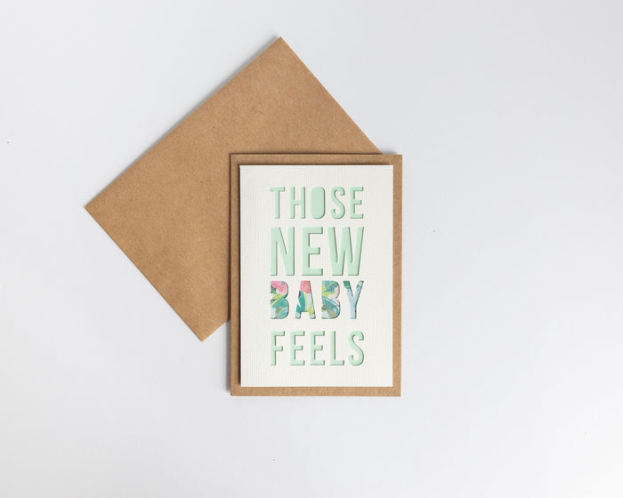 Greeting Card - Those New Baby Feels