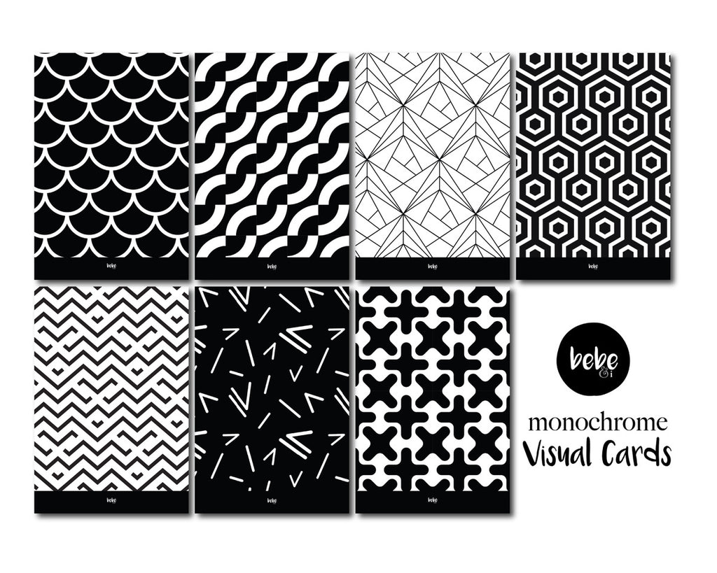 Monochrome Visual Cards - Square Edge