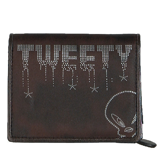 Cartera Portadocumentos Tweety Marrón