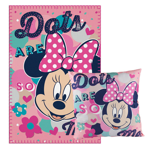 Set Manta Polar + Almohada Minnie