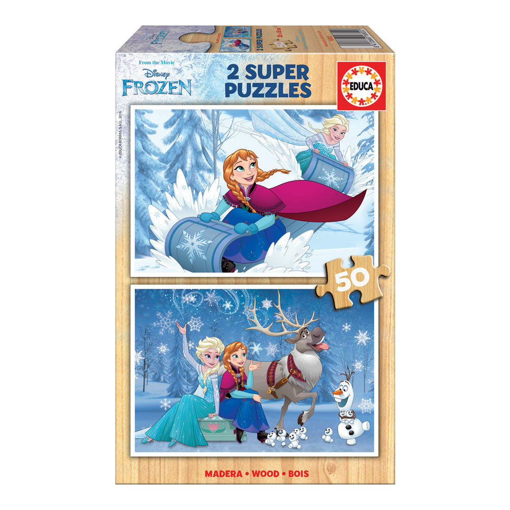Puzzle Madera 2X50 Frozen