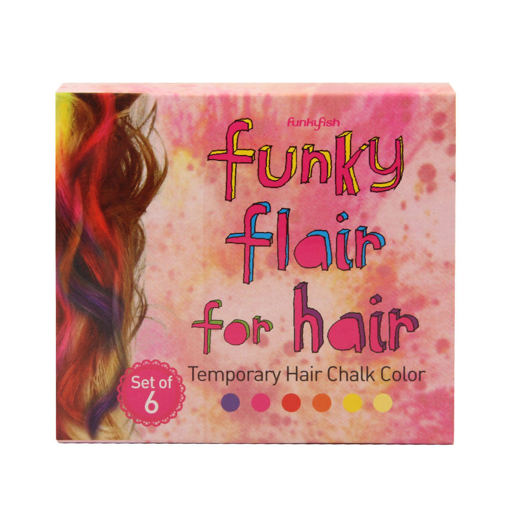 Set Extensiones Pelo Colores Calientes Funky Fish