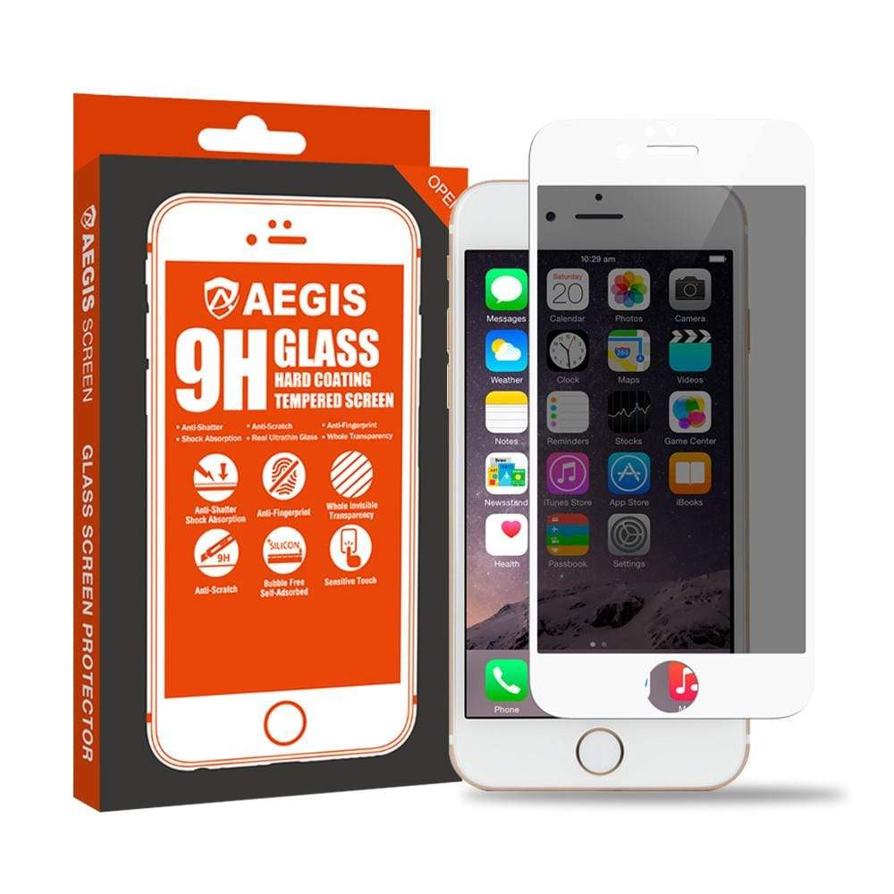 Aegis Full Coverage Privacy Tempered Glass for iPhone 6/6S - Case Studio