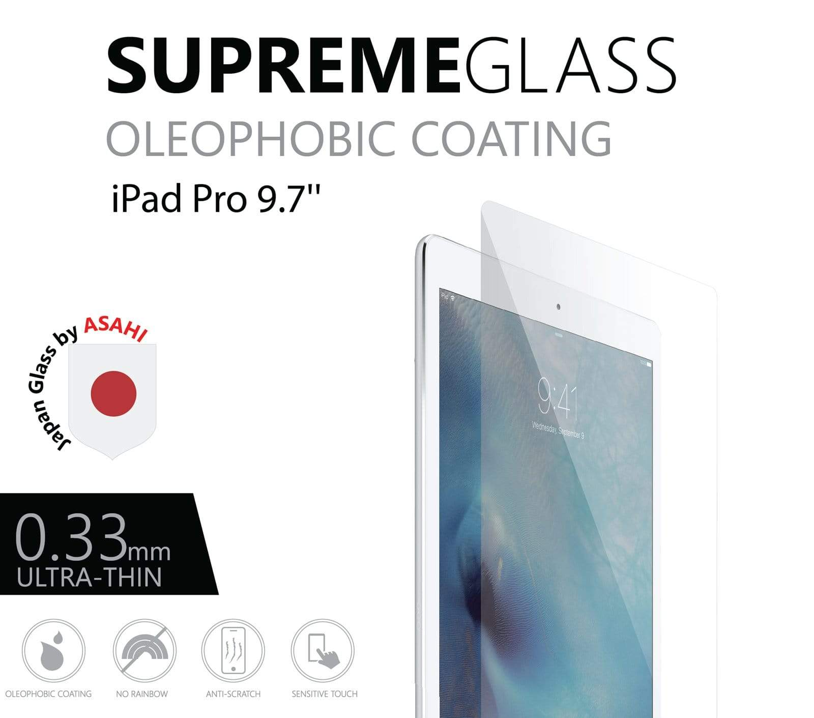 AMAZINGthing SupremeGlass for iPad Pro 9.7 / Air 2 / iPad 2017 / iPad 2018 - Case Studio