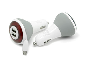 iTechnology Car Charger 4.5A Dual USB Car Charger w/Micro USB Charging Cable - Case Studio