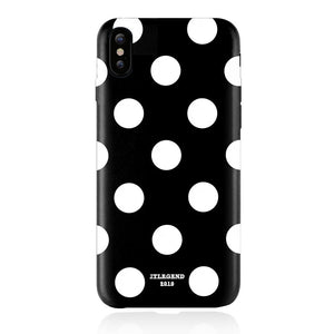 JT Legend Polka PU Leather Back Case for iPhone X - Case Studio