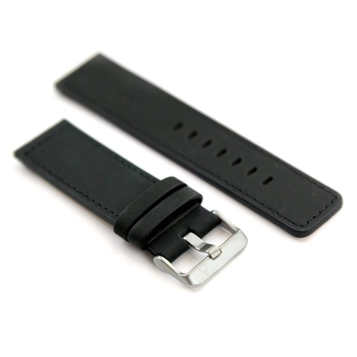NOMATIC Watch Band Genuine Leather - Black/Silver - Case Studio