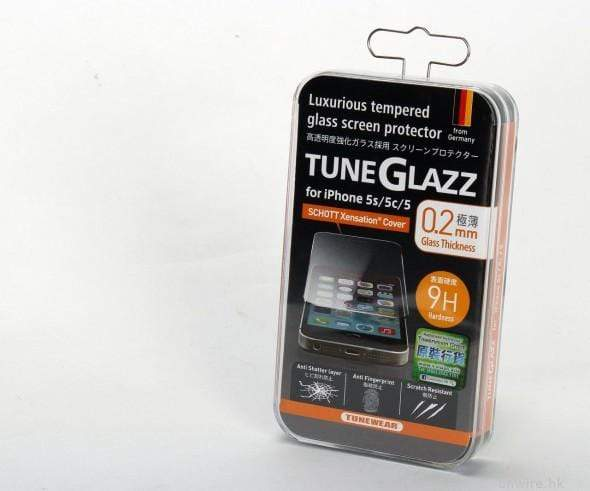 Tunewear Tuneglazz Tempered Glass Screen Protector for iPhone SE/5/5S - Case Studio