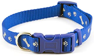Blue Reflective Paw & Bone Collar