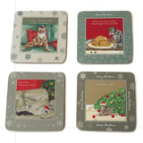 Cat Christmas Coasters
