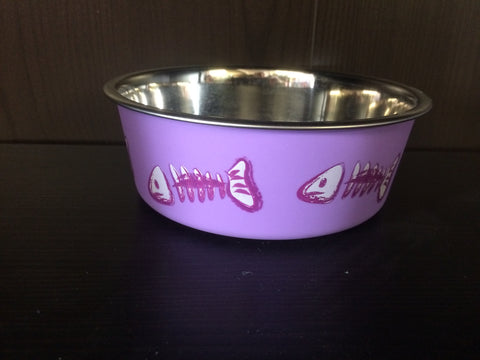 Bella Bowl X-smal Purple Fish Skeleton