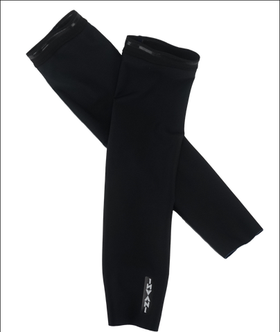 Invani Mens reversible arm warmers black