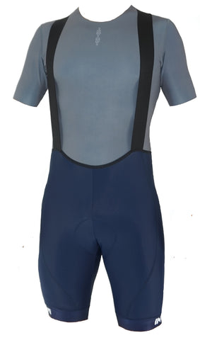 Mens Bib Shorts: Navy Blue
