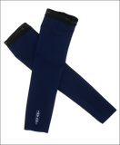 Womens Arm Warmers: Black / Blue